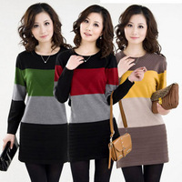 Quinquagenarian autumn 2013 women's mother clothing medium-long sweater basic shirt plus size loose sweater
