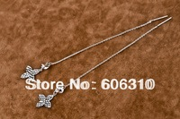GNE0793 Fashion jewelry earrings for women Factory price 925 sterling silver charms earrings line 116mm free shipping