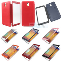 Leather Flip Easy to see Battery Case Cover for Samsung Galaxy Note 3 III N9000 S120