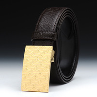 V9 Free shipping&Hot selling,100% Real genuine Leather Belt with Perfect brushed buckle, with gift box and bag,
