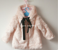 retail baby  girl   leather  jacket kids thick fleece fur collar winter coat children clothing free shipping