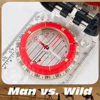 Wildness survival  Compass Multifunctional for Camping Exploration with Fluorescent Light Free Shipping