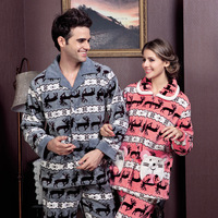 American standard lounge autumn and winter velvet long-sleeve women's 35519 cartoon sleep set