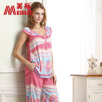 Short in size ansi sleepwear female short-sleeve sleep 34895 lounge set