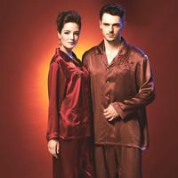 American standard pure silk long-sleeve lovers sleep set 97201059720104 derlook