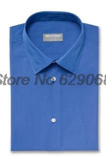 New Dress Shirt Men Casual -Slim -Fit Customized Shirts long Sleeve Brand Camisa Hombre French Blue Mens Shirts Fashion 2013 1(China (Mainland))