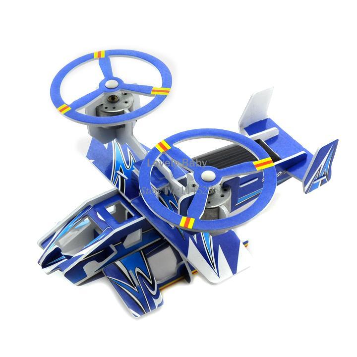 4pcs/lot Solar Powered Educational DIY Plane Toy Funny Assemble Robot ...