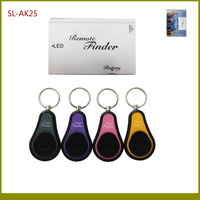90dB 1:4 Wireless Remote Super Key Finder Alarm With 1 Credit Card Size Transmitter + 4 Keychains Receivers TypeB