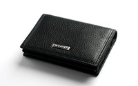 Hot! 100% genuine leather men wallets, real cowhide men's fold wallet purse money clips black color, free shipping
