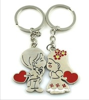 Wholesale metal couple keychain gift key rings 20Pairts/LOT each part have 2 pcs free shipping