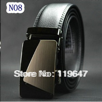 Hot Sale Genuine Leather Belts Men , 2013 New Fashion Belt For Man , Mens Waistb And Free Shipping 105-130cm QQ016 NO1-NO8
