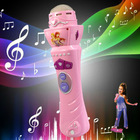 Wireless Girls Boys LED Microphone Mic Karaoke Singing Kids Funny Gift Music Toy Free shippng & wholesale(China (Mainland))