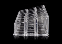 Free Shipping  Hot Sale Crystal Plastic Cosmetic Display & Storage Box, Wholesale Transparent Crystal Plastic Box