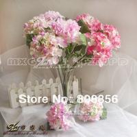 20p 36cm Length Silk Artificial Hydrangea Flower Single Stem per Bush with Foam Berries for Wedding Bride Centerpieces Christmas