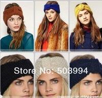 Lady winter Crocheted Knit bow headband headwrap- Ear warmer (TD-102)