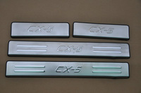 Chrome door sill sucff plate fit for mazda cx5 2013-2014 4pcs/set