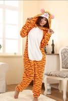 New Adult Fleece Lovely Tiger Pyjamas Pajamas Sleepsuit sleepwear Onesie