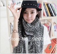 180 * 90cm women voile long scarf, fashion scarves tribal print pattern,infinity Silk scarf L-HM206