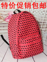 Heart shaped 3 casual female backpack middle school students school bag
