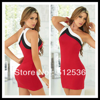 Red color simple stylish strap fancy dress, club party dress free size free shipping