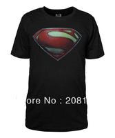 Superman Man of Steel Movie New Superman S Shield Logo Tee Shirt S-3XL Cotton Tshirt Costume
