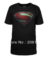 Superman Man of Steel Movie New Superman S Shield Logo Tee Shirt S-3XL Cotton Tshirt Costume