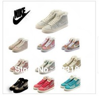 The new 2013 sneakers authentic leisure fashion small cui flower high help warm cotton shoes and wool shoes for women's shoes