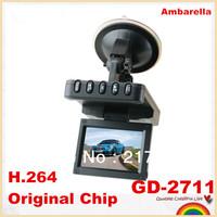 "Free shipping!Ambarella Mini Car DVR GD2711 recorder full HD 720P 2.7"" LCD 170 Degree Wide Angle GPS logger G-Sensor"