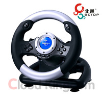 Betop BTP-3130 USB Wired Game Steering Wheel for Racing Games on Windows PC