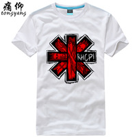 100% short-sleeve cotton t-shirt plus size red hot chili peppers chili pepper - 1  100% Cotton custom logo