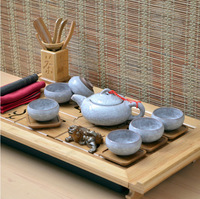 Fate of ceramics 7 ice crack porcelain tea set tea gift box without tray five optional Diamond White (with tea)
