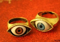G063 Min.order is $8 (mix order)Free Shipping! Wholesales!2014 New Christmas Gifts Blue Eyes Exaggerated Retro Punk Style Ring!