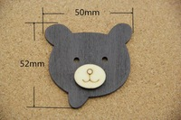 Free shipping 20pcs cute bear costume accessories, decorative wooden toys, clothing accessories, ornaments accessories