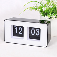 Auto Flip Clock Korean Simple Fashion Box Automatically Flip Clock Concise Art Table Clock Desk Clock GTJS2213