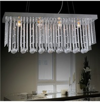 Modern minimalist restaurant lamp chandelier crystal rectangular dining room chandelier lighting fixtures D913