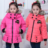 winter thickening cotton-padded jacket children's clothing little girl female child cotton-padded jacket 3 - 11 baby