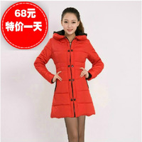 Autumn and winter slim medium-long women's down cotton-padded jacket women's cotton-padded jacket outerwear wadded jacket