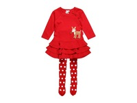 new female red reindeer dress two suits 6sets/lot
