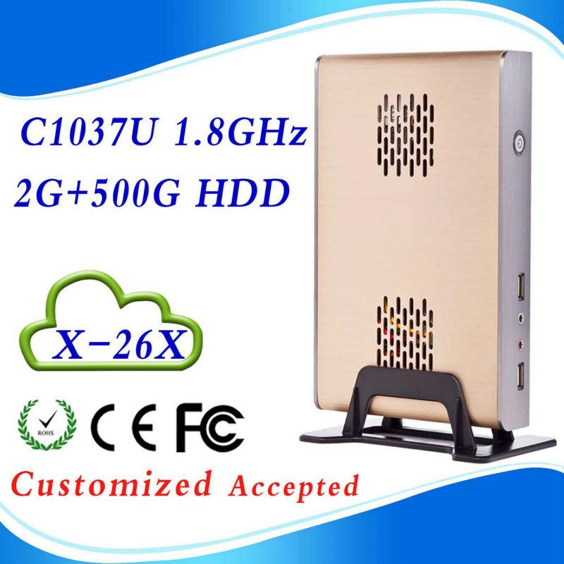 Mini pc ssd game computer dual core mini pc 2g ram 500g hdd INTEL C1037U 1.8GHZ Dual-core WIN7, Linux support , HDMI+VGA(China (Mainland))