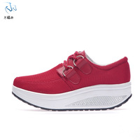 Autumn gauze female swing shoes casual swing shoes single shoes platform slimming weight loss shoes