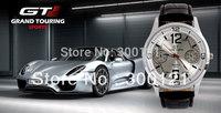 New 2013 GT Racing Sports Watch,  PC Movement Round Dial Clock Men Army Black Silicone Quartz Wrist Watch