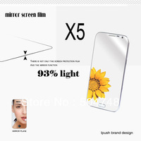 Free Shipping 5 pcs/lot Good Quality Mirror Screen Protector Film For Samsung Galaxy Note II 2 N7100 With Ipush Retails Package