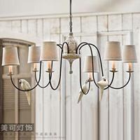 Vintage pendant light fashion wooden tieyi luminaire