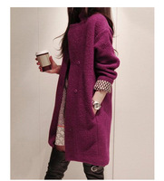 2013 New Arrival Korean style Long Woman Coolen Coat Winter Warm Jacket Coat with stand collar ,S-XXL,freeshipping