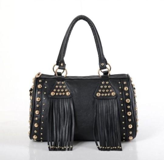 rivets restore ancient tassel fashion shoulder bag boston tote bags 2013 women handbag(China (Mainland))