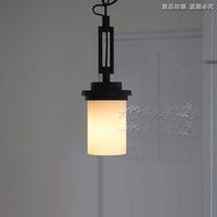 Fashion nostalgic classical vintage american milky white glass lamp shade single lamp pendant light