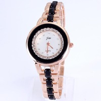 Relojes 2013 Christmas gift ceramic watch for women full diamond bling rose gold plated watches women fashion luxury brand