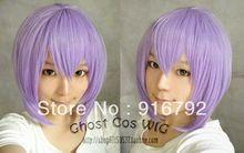 FREE SHIPPING >>New short light purple wig Cosplay wig(China (Mainland))