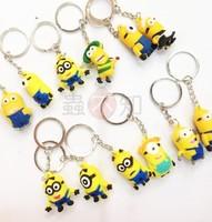 Despicable Me Key chain Movie Anime Minion toys Figure Pendants 8pcs/set Free Shipping Creative