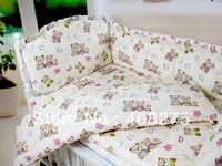 Baby cot bedding sets Kids bed set Bear comforter set 8,9,10 pcs bed set (baby duvet, bed sheets for baby, baby bed cover cotton